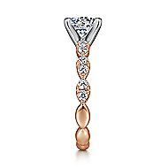 Rowan 14k White And Rose Gold Round Straight Engagement Ring angle 5