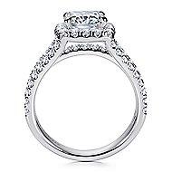 Sabrina 14k White Gold Cushion Cut Halo Engagement Ring angle 2