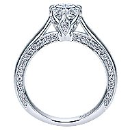Sacred 18k White Gold Round Straight Engagement Ring angle 2