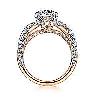 Sage 18k White And Rose Gold Round Twisted Engagement Ring angle 2