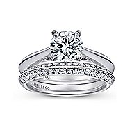 Sasha 14k White Gold Round Solitaire Engagement Ring