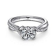 Scout 14k White Gold Round Twisted Engagement Ring angle 1