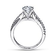 Scout 14k White Gold Round Twisted Engagement Ring angle 2