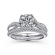 Scout 14k White Gold Round Twisted Engagement Ring