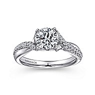 Scout 14k White Gold Round Twisted Engagement Ring angle 5
