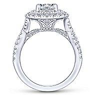Senna 14k White Gold Round Double Halo Engagement Ring angle 2