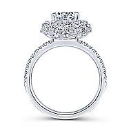 Sheer 18k White Gold Round Halo Engagement Ring angle 2