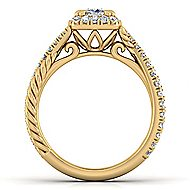 Sheridan 14k Yellow Gold Cushion Cut Halo Engagement Ring angle 2