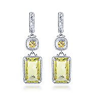 Silver-18K Yellow Gold Fashion Earrings