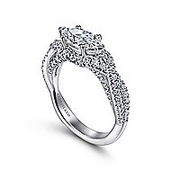 Sinclair 14k White Gold Marquise  Twisted Engagement Ring
