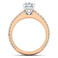 Sloane 14k White And Rose Gold Oval Straight Engagement Ring angle 2