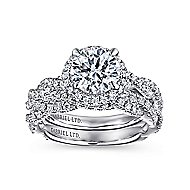 Soledad Platinum Round Halo Engagement Ring