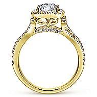 Sonya 14k Yellow Gold Round Halo Engagement Ring angle 2
