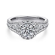 Sorrel 14k White Gold Round Halo Engagement Ring angle 1