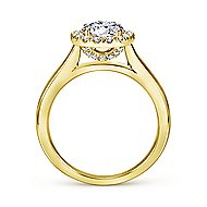Stacy 14k Yellow Gold Round Halo Engagement Ring angle 2
