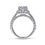 Sutton 14k White Gold Oval Halo Engagement Ring angle 2