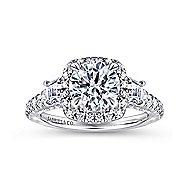 Tabassum 18k White Gold Round Halo Engagement Ring angle 5