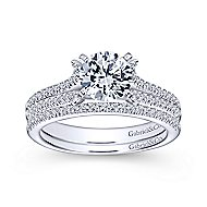Talisa 14k White Gold Round Split Shank Engagement Ring angle 4