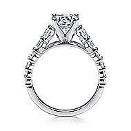 Taylor 14k White Gold Round Straight Engagement Ring angle 2