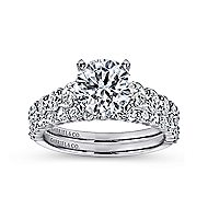 Taylor 14k White Gold Round Straight Engagement Ring angle 4