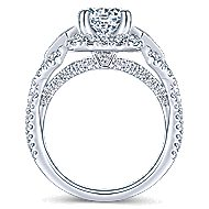 Thelma 18k White Gold Round Halo Engagement Ring angle 2