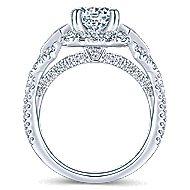 Thelma 18k White Gold Round Halo Engagement Ring angle 2