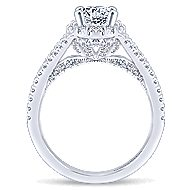 Tiger Lily 14k White Gold Oval Halo Engagement Ring