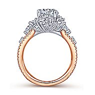 Tinsley 18k White And Rose Gold Round Halo Engagement Ring angle 2