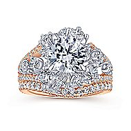 Tinsley 18k White And Rose Gold Round Split Shank Engagement Ring angle 4