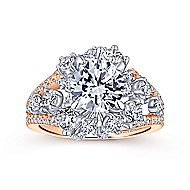 Tinsley 18k White And Rose Gold Round Split Shank Engagement Ring angle 5