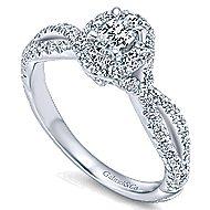 Trimble 14k White Gold Oval Halo Engagement Ring angle 3