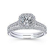Turino 14k White Gold Round Halo Engagement Ring