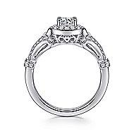 Ulla 14k White Gold Round Halo Engagement Ring