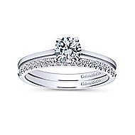 Valerie 14k White Gold Round Solitaire Engagement Ring