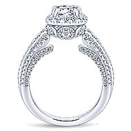 Vienna 14k White Gold Round Halo Engagement Ring angle 2
