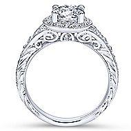 Vivian 14k White Gold Round Halo Engagement Ring angle 2