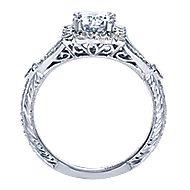 Vivid Platinum Round Halo Engagement Ring angle 2