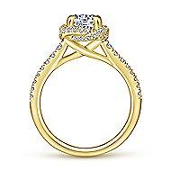 Warner 14k Yellow Gold Round Halo Engagement Ring