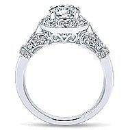 Whitney 14k White Gold Round Halo Engagement Ring angle 2