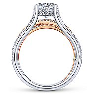 Wilma 18k White And Rose Gold Round Twisted Engagement Ring angle 2