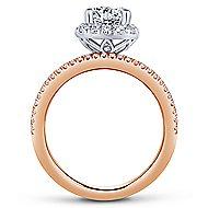 Wonder 18k White And Rose Gold Round Halo Engagement Ring angle 2