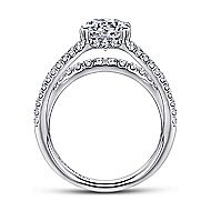 Wynn 18k White Gold Round Straight Engagement Ring angle 2