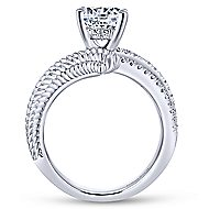 Yara 14k White Gold Round Bypass Engagement Ring angle 2