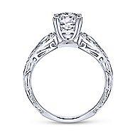 York 18k White Gold Round Split Shank Engagement Ring angle 2