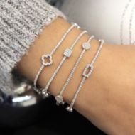 14K White Gold Fashion Bracelet angle